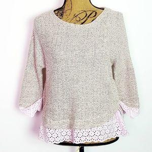 Saturday Sunday Nolina Lace Pullover     Medium